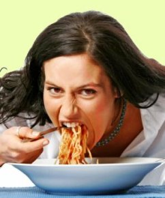 eat-what-you-want-day spagetti woman