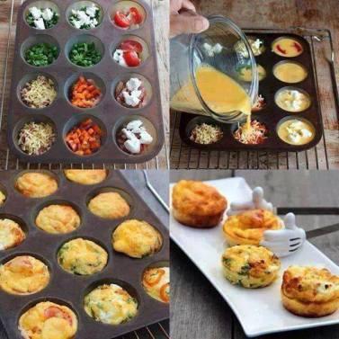 mini veggie egg muffins