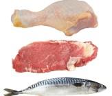 beef chicken fish