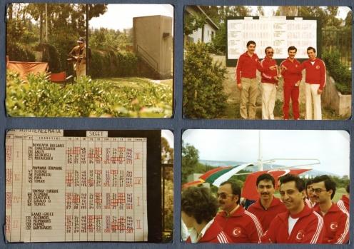 1980 Atina Blk. Şampiyonasını Avrupa rekorunun üzerinde kural değişikliği nedeni ile kırılamamış 600 de 582 skorla kazanan Skeet takımının enstantenele