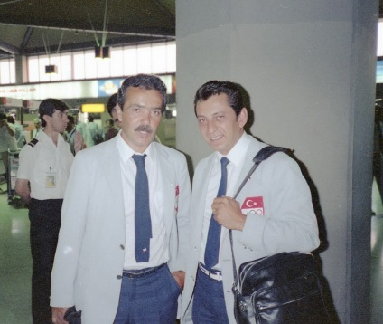 1984 (2) Los Angeles Olimpiyatları yolculuk öncesi Atatürk Hava Alanı